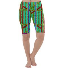 Gift Wrappers For Body And Soul In  A Rainbow Mind Cropped Leggings