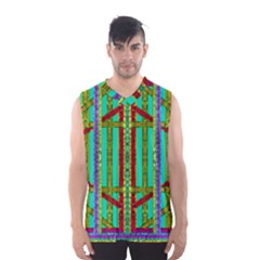 Gift Wrappers For Body And Soul In  A Rainbow Mind Men s Basketball Tank Top