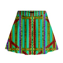 Gift Wrappers For Body And Soul In  A Rainbow Mind Mini Flare Skirt
