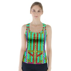 Gift Wrappers For Body And Soul In  A Rainbow Mind Racer Back Sports Top