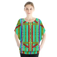Gift Wrappers For Body And Soul In  A Rainbow Mind Blouse