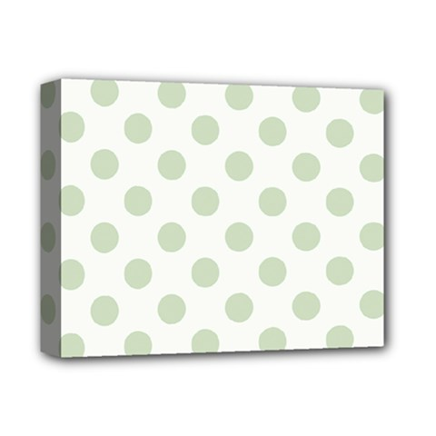 Green Dots Modern Pattern Paper Deluxe Canvas 14  X 11
