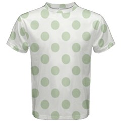 Green Dots Modern Pattern Paper Men s Cotton Tee
