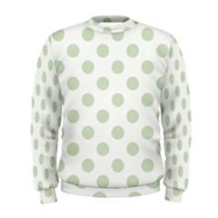 Green Dots Modern Pattern Paper Men s Sweatshirt