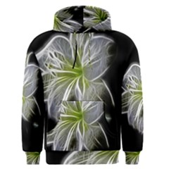 White Lily Flower Nature Beauty Men s Pullover Hoodie