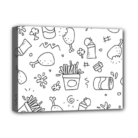 Set Chalk Out Scribble Collection Deluxe Canvas 16  X 12