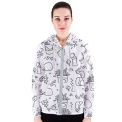 Set Chalk Out Scribble Collection Women s Zipper Hoodie