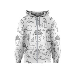 Set Chalk Out Scribble Collection Kids  Zipper Hoodie