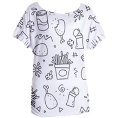Set Chalk Out Scribble Collection Women s Oversized Tee