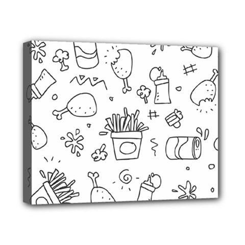 Set Chalk Out Scribble Collection Canvas 10  X 8