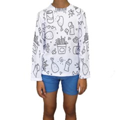 Set Chalk Out Scribble Collection Kids  Long Sleeve Swimwear