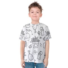 Set Chalk Out Scribble Collection Kids  Cotton Tee