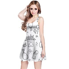 Set Chalk Out Scribble Collection Reversible Sleeveless Dress