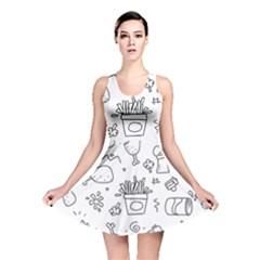 Set Chalk Out Scribble Collection Reversible Skater Dress