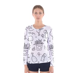 Set Chalk Out Scribble Collection Women s Long Sleeve Tee