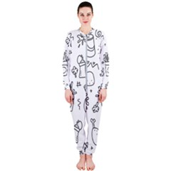 Set Chalk Out Scribble Collection Onepiece Jumpsuit (ladies)