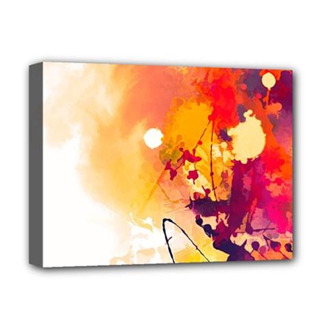 Paint Splash Paint Splatter Design Deluxe Canvas 16  X 12