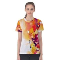 Paint Splash Paint Splatter Design Women s Cotton Tee