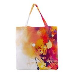 Paint Splash Paint Splatter Design Grocery Tote Bag