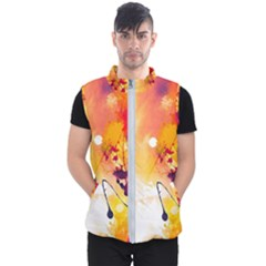 Paint Splash Paint Splatter Design Men s Puffer Vest