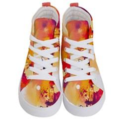 Paint Splash Paint Splatter Design Kid s Hi Top Skate Sneakers