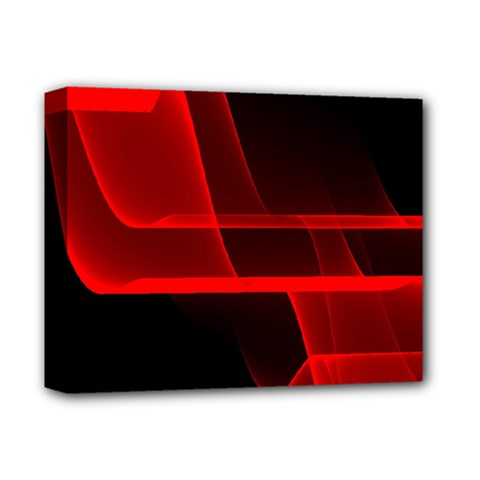 Background Light Glow Abstract Art Deluxe Canvas 14  X 11