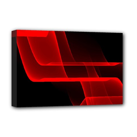 Background Light Glow Abstract Art Deluxe Canvas 18  X 12
