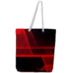 Background Light Glow Abstract Art Full Print Rope Handle Tote (large)