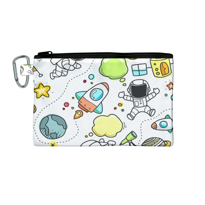 Sketch Set Cute Collection Child Canvas Cosmetic Bag (Medium)