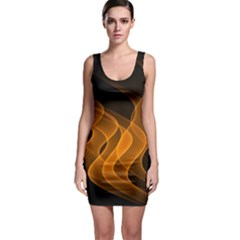 Background Light Glow Abstract Art Bodycon Dress
