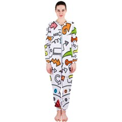 Desktop Pattern Art Graphic Design Onepiece Jumpsuit (ladies)