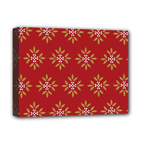 Pattern Background Holiday Deluxe Canvas 16  X 12