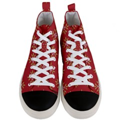 Pattern Background Holiday Men s Mid Top Canvas Sneakers