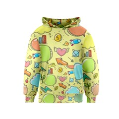 Cute Sketch Child Graphic Funny Kids  Pullover Hoodie
