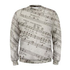 Sheet Music Paper Notes Antique Men s Sweatshirt