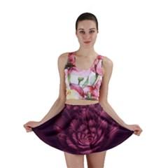 Fractal Blossom Flower Bloom Mini Skirt