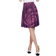 Fractal Blossom Flower Bloom A Line Skirt