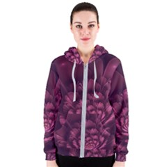 Fractal Blossom Flower Bloom Women s Zipper Hoodie