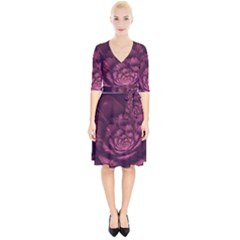 Fractal Blossom Flower Bloom Wrap Up Cocktail Dress