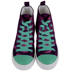 Fractal Blossom Flower Bloom Women s Mid Top Canvas Sneakers