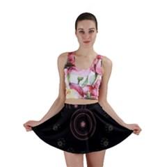 Fractal Flowers Pattern Fantasy Mini Skirt