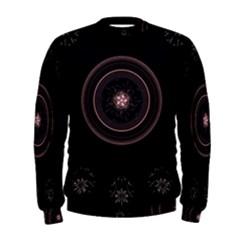 Fractal Flowers Pattern Fantasy Men s Sweatshirt