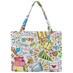 Doodle New Year Party Celebration Mini Tote Bag