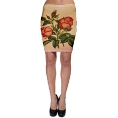Vintage Flowers Floral Bodycon Skirt