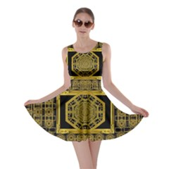 Beautiful Stars Would Be In Gold Frames Skater Dress