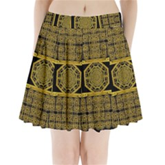 Beautiful Stars Would Be In Gold Frames Pleated Mini Skirt