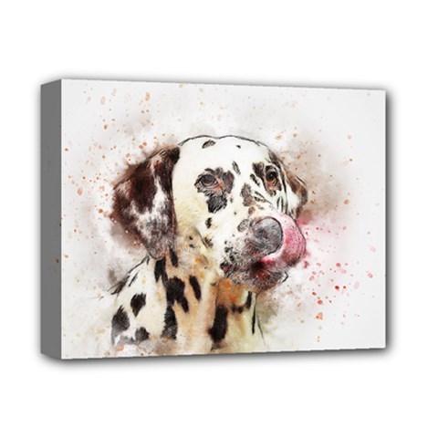 Dog Portrait Pet Art Abstract Deluxe Canvas 14  X 11