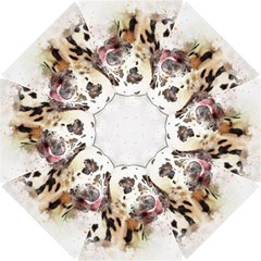 Dog Portrait Pet Art Abstract Hook Handle Umbrellas (small)