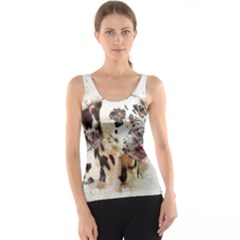 Dog Portrait Pet Art Abstract Tank Top