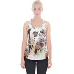 Dog Portrait Pet Art Abstract Piece Up Tank Top